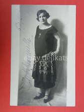 Autografo autograph NIETTA ZANONCELLI operetta lirica 1925