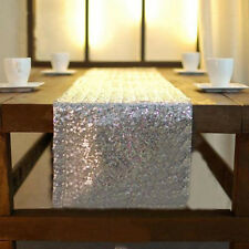"""12""""x108"""" Gold Silver Sequin Table Runner Wedding Party Chrismas Table Decoration"""