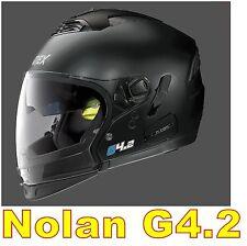 """CASCO NOLAN GREX G4.2 N-COM  EX N43E AIR NERO OPACO COL.2 Tg. """"XS"""" BLACK FLAT"""