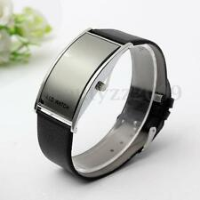 OROLOGIO DA POLSO DIGITALE DATE LED UOMO DONNA LEATHER BRACCIALE WRIST WATCH