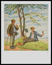 Otto Quante Im Frühling Poster Bild Kunstdruck mit Alu Rahmen in schwarz 60x50cm