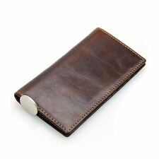 Vintage RFID Wallet Genuine Leather Cowhide Bifold Long Card Holder Clutch Purse