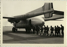 PHOTO ANCIENNE - VINTAGE SNAPSHOT - AVION NORD ATLAS PARACHUTISME PARA - PLANE