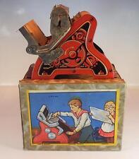 Blech Druckerpresse D.R.P. mit Buchstaben in wunderschöner O-Box 20/30er Jahre