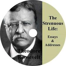 Strenuous Life: Essays and Addresses of Theodore Roosevelt Audiobook on 1 MP3 CD