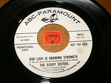 THE BARRY SISTERS - OUR LOVE IS GROWING STRONGER  / LISTEN - GIRL GROUP  POPCORN