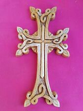 Armenian Wooden Cross Christianity for wall gift wood !!! walnut xachqar decor