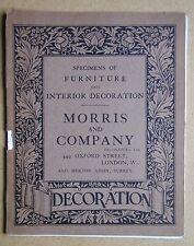 William Morris & Company. Specimens of Furniture and Interior Decoration. c1900