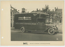 GENERAL ELECTRIC REFRIGERATOR PANEL TRUCK 1920s STERLING MOTORS CO. PHOTO