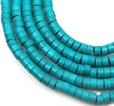 4x2mm Blue Turquoise Heishi Beads 16""