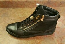 Versace Collection High Top Leather Suede Sneakers Black Mens 13 US 46 Eur. $595