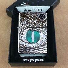 "Zippo ""Dragon Eye"" High Polish Chrome Armor Windproof Lighter 28807 NEW"