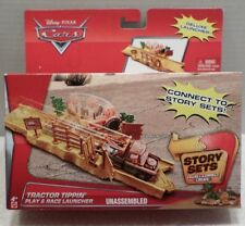 Disney Pixar Cars TRACTOR TIPPIN' Play & Race with Deluxe Launcher NEW 4+ Mattel