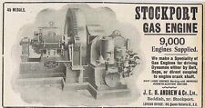 JEH Andrew & Co Ltd, Stockport Gas Engine - Antique Engineering Advert 1904
