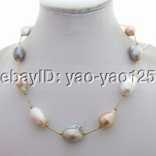 Q101211 WOW! 20mm Bead-Nucleated Pearl Necklace
