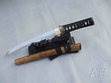 Handmade Rose Wood Japanese Folded Steel Sword Tanto + Customization & Sword Bag