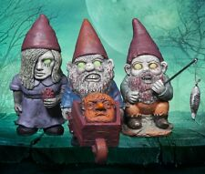 MINI ZOMBIE Garden GNOMES Set of 3 Yard Gnome Figures 10cm Tall THUMBS UP