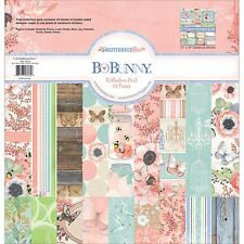 BUTTERFLY KISSES Collection Pack 12x12 Scrapbooking Kit BoBunny New 19816535