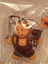 VINTAGE Rainbow Bros Ltd 2000 Holiday Collection Bear Ornament New in Box