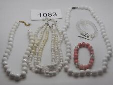 Vintage Jewelry LOT OF 5 Necklaces Bracelets BEADS 1063