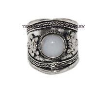 Adjustable Moonstone Ring Boho ring Nepal ring Tibetan ring Tibet Ring RB80