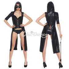 New Sexy Women's Faux Leather Gothic Catsuit Jumpsuit PVC Clubwear Dress Costume