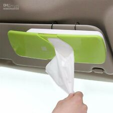 CAR Sun Visor Tissue Box Dispenser w/ Clip  (Green) Plastic  FREE Shipping