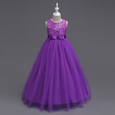 New Wedding Flower Girl Dress Toddler Bridesmaid Graducation Easter Formal Gowns