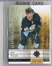 11-12 2011-12 ULTIMATE COLLECTION JOE VITALE ROOKIES RC /399 105 PENGUINS