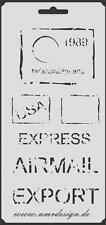 Scrapbooking Schablone S-110  Post ~ Stencil ~ UMR-Design