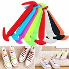 12PCS Silicone Elastic Shoelaces No Tie Shoe Laces Running Sneakers Strings NEW
