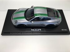Porsche 911 R Diecast Model Car 1:18 Scale Limited Edition SILVER w/ Green