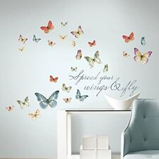 Lisa Audit Butterfly Quote Watercolor Wall Decals 28 Stickers Butterflies Decor