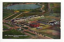 CHEYENNE TRANSCONTINENTAL AIRPORT PC Postcard WYOMING WY Aircraft PLANE Air