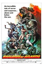 WARLORDS OF ATLANTIS movie poster DOUG McCLURE, FANTASY - 11 x 17 inches