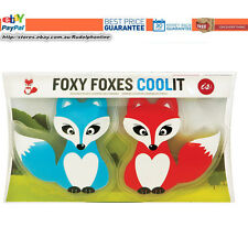 Brand New Is gift Foxy Foxes Cool It Twin Pack Blue and Red cute Foxes