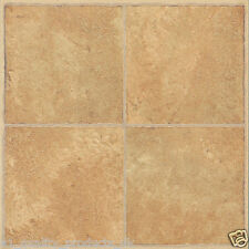 28 x Vinyl Floor Tiles - Self Adhesive - Bathroom Kitchen, Beige Traditional 186