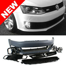 VW JETTA MK6 SEDAN GLI STYLE FRONT BUMPER CONVERSION KIT W/ BLACK GRILLES