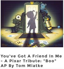 "MONSTER'S Inc-A Pixar Tribute: ""Boo"" --Tom Miatke Artist Print--(edition of 10)"