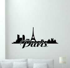 Paris Skyline Wall Decal Bedroom Poster Vinyl Sticker French Home Decor 71hor