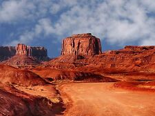 MONUMENT VALLEY NAVAJO COLORADO WINTER SKY PHOTO ART PRINT POSTER BMP1851A