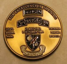 3rd Ranger Battalion Commander / Command Sergeant Major Army Challenge Coin