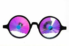 Rainbow  Portal Kaleidoscope Glasses EDM Prism Diffraction real glass Rave Club