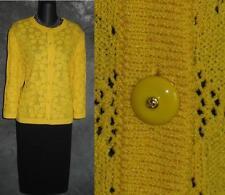 BEAUTIFUL St John collection jacket yellow knit suit blazer size M 12 14