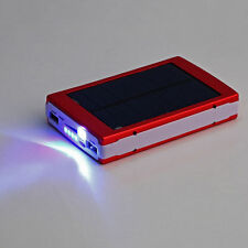 50000mAh Dual USB Solar Panel Power Bank External Battery Charger for Phone Red