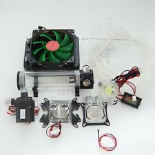 Water Cooling Kit 120 Radiator CPU GPU Block Pump Tank Reservoir Tubing LED