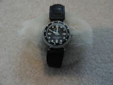 Ocean Pacific Quartz Water Resistant Watch with a Black Velcro Band