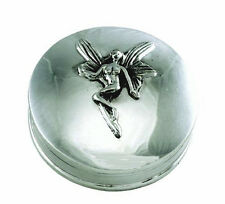 SOLID SILVER TOOTH FAIRY BOX FULLY HALLMARKED.   ***SILVER CHRISTENING GIFT***