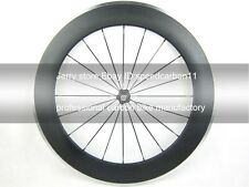 Only front road wheel 80mm carbon fiber racing wheel 700C,alloy brake wholesale