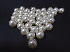 20pcs 16mm Acrylic Faux Imitation Pearl Round Beads - IVORY Wedding Bridal